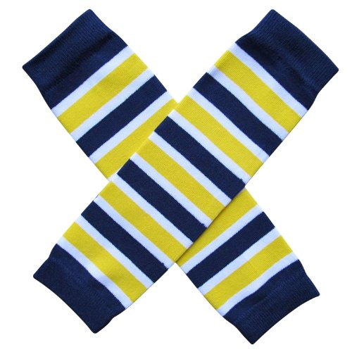So Sydney Team School Spirit Sports Fan Leg Warmers, Baby, Toddler, Girl, Boy (Team Navy Blue & Yellow) (Blue And Yellow Cheerleader Outfit)