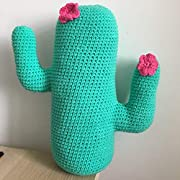 Lands Edge Handmade Crochet Cactus Pillow