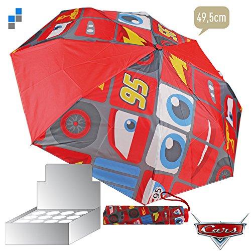 Cars Lightning Mc Queen Regenschirm Taschenschirm Schirm faltbar *NEU*OVP*
