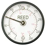 Reed 314FC Magnetic Surface Thermometer, 10 to 400 Degrees C, 5 Degrees C Resolution, +/-2 Percent Accuracy