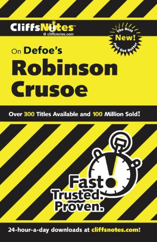 CliffsNotes on Defoe's Robinson Crusoe, 2nd Edition (Cliffsnotes Literature Guides)