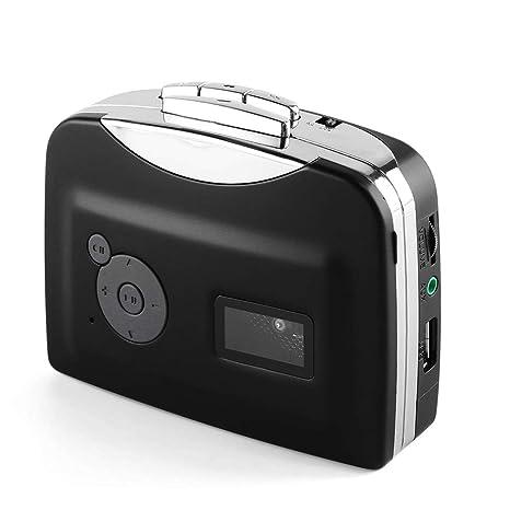 GKD Reproductor De Casetes Tocadiscos, Cinta Portátil De Audio MP3 ...