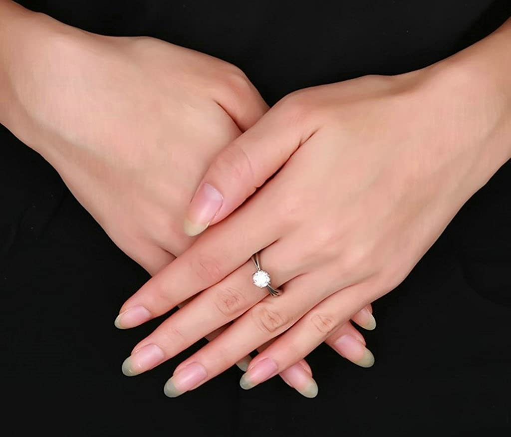 Bishilin Stainless Steel Solitaire AAA Cubic Zirconia Women Wedding Rings Wedding Gift