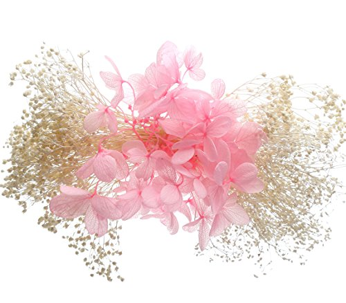 With an orchid Wedding Bridal Romantic Preserved Fresh Flower Hairpins Headwears Girl Hair Accessories Pink
