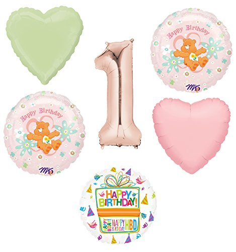 Mayflower Products Care Bears Party Supplies and 1st Birthday Balloon Bouquet Decorations