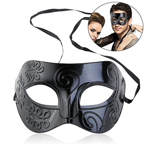 Mask Masquerade Ball - 2019 Men Women Masquerade Costume Venetian Party Mask Villain Eye - Glasses Blue Black Superhero Couples Masquerade Bulk Dinosaur Adult That Birthday Feathers Unicor