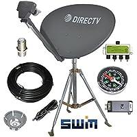 DirecTV SWM SL3S Portable Satellite RV Dish Kit Camping Tailgating with Tripod SWiM and level