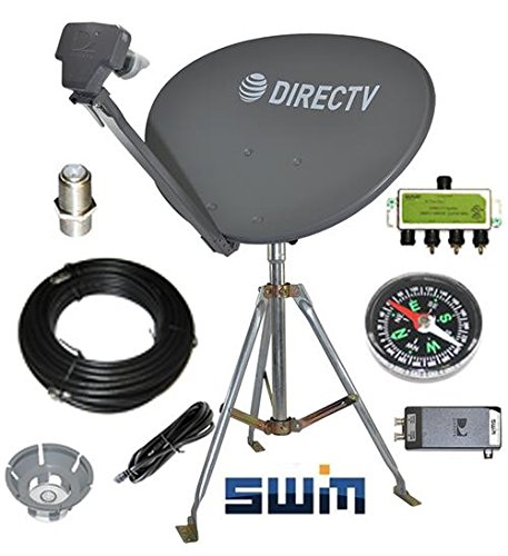 - DirecTV SWM SL3S Portable Satellite RV Dish Kit Camping Tailgating with Tripod SWiM and level