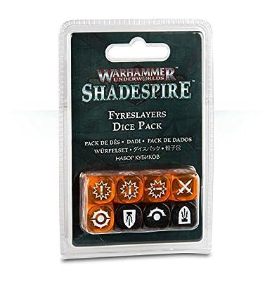 Warhammer Underworlds: Shadespire – Fyreslayers Dice Pack by Games Workshop