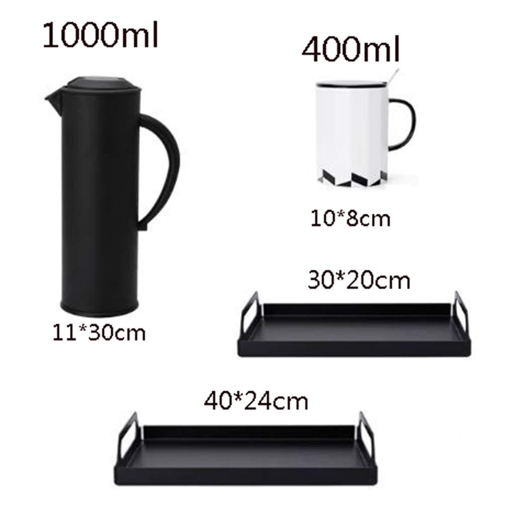 CSQ Coffee Cup Four Sets of Tea Sets, Simple Teapot Mug Ceramics Hospitality Tea Set Tea Set Capacity: 1000ml Afternoon Tea (Color : #4) by Tea set-CSQ (Image #2)