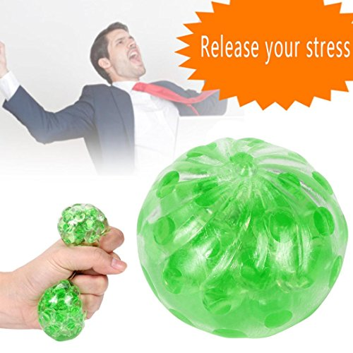 Slow Rising Squishies Jumbo,Todaies 2018 Clearance New Spongy Bead Stress Ball Toy Squeezable Stress Squishy Toy Stress Relief Ball (Green)