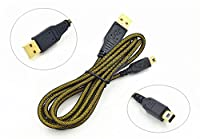 EXSEK High Speed Premium USB Power Charger Charging Cable Cord For Nintendo 3DS / 3DS XL / DSi / DSi XL With Premium Super fiber Cleaning Cloths