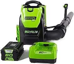 Greenworks PRO 80V 145 MPH - 580 CFM Cordless Backpack Blower, 2.5 AH Battery...
