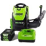Greenworks PRO 80V 145 MPH - 580 CFM Cordless Backpack Blower, 2.5 AH Battery Included BPB80L2510