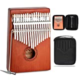 JDR Kalimba 17 Keys Thumb Piano With EVA Waterproof Protective Case, Tuning Hammer And Music Book, Unique Gift Birthday Gift For Kids Without Any Musical Basis Or Musician