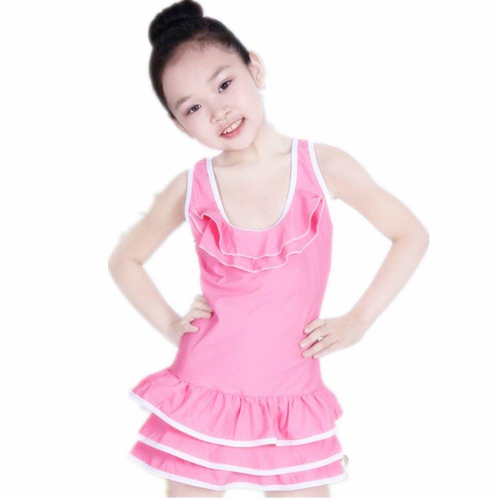 ZYZF Teens Girls Children Bikini Dresses Swimsuit Swimwear Beachwear 201607140073