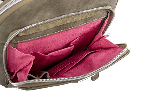 LAURA BIAGIOTTI Tasche Herren Taupe Bandelier Tasche Umgehängt Flache F689