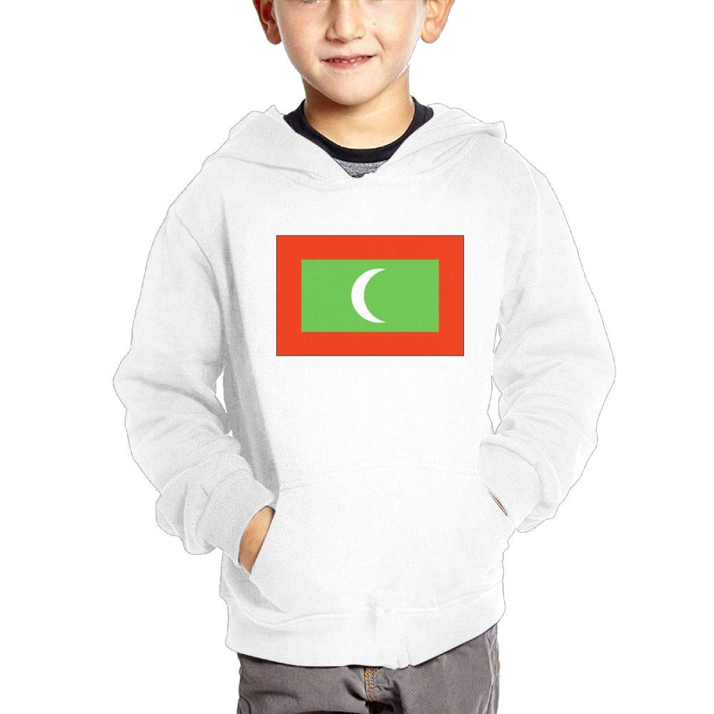 JIANGSHAN Maldives Flag Personality Hooded Pocket Sweater for Children Spring//Autumn//Winter Outfit Long-Sleeved Hoodie