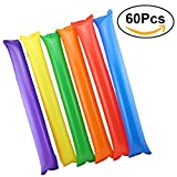 TOYMYTOY 60Pcs Cheer Sticks Bar Cheering Stick Noisemakers Stick (Mix Color)