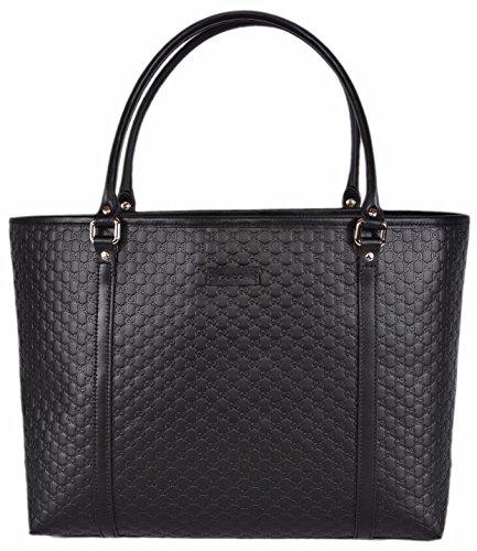 Gucci Women's Micro GG Guccissima Leather Joy Purse Tote (Black)
