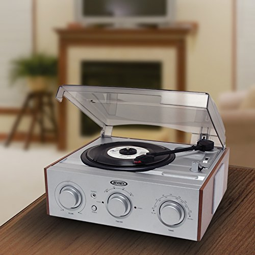 Jensen 3-Speed Stereo Turntable with AM/FM Stereo Radio (Silver) by Jensen (Image #3)