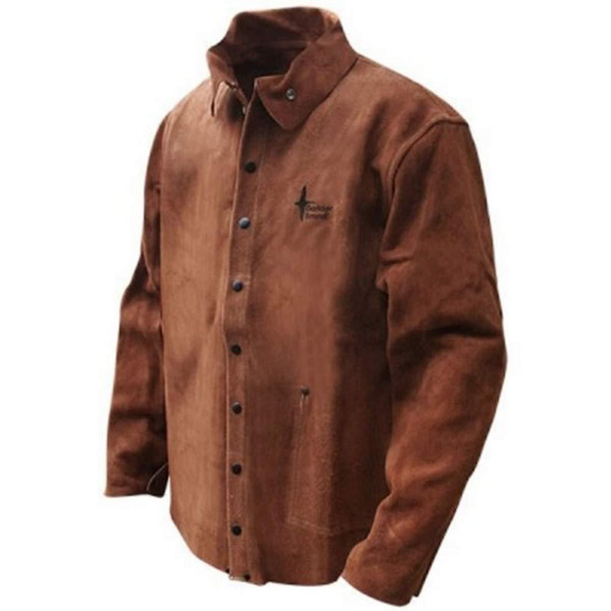 Bob Dale 60-1-126-M Premium Split Leather Cowhide Full Welders Jacket, Medium, Brown