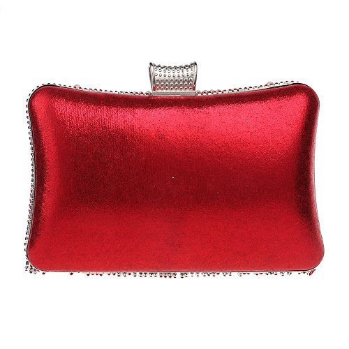 Chain Clutch Evening Bag Pearl Small Rectangle Shoulder Purse Rhinestones Crystal Women Red Diamonds Beaded Handbags Bag Tassel xUqIwIBAz