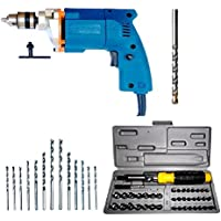 Dee Power Electric Drill Machine (10mm) with 41 Pieces Screwdriver Kit +13HSS Bits +1 Masonry Bit
