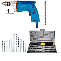 Dee Power 10 mm Electric drill Machine With 41 Pcs Screwdriver Kit +13HSS Bits +1 Masonry Bit