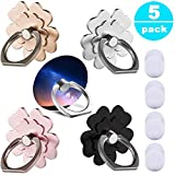Phone Ring Stand Holder 5 Pack - 360°Rotary Finger Grip Stand Holder Ring - Car Mount Universal Smartphone Kickstand for iPhone/Samsung/Galaxy/Phone Case - Lucky Flower