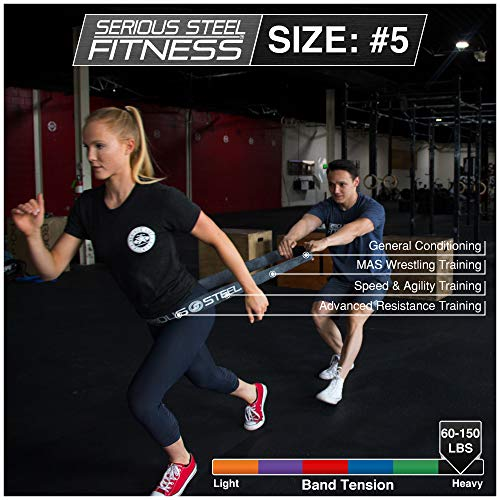 Serious Steel Fitness Black - #5 Strong Assisted Pull-up & Resistance Power Stretch Band (Size: 2.5 by Serious Steel Fitness (Image #3)