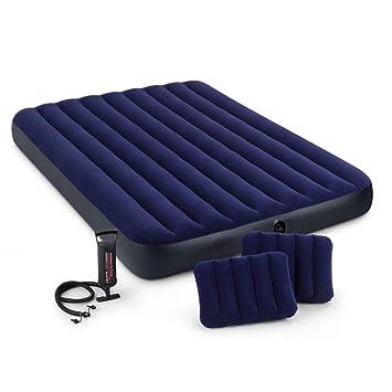 Amazon.com: Juego de colchón hinchable de doble tamaño con 2 ...