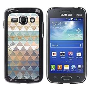 TopCaseStore / la caja del caucho duro de la cubierta de protección de la piel - Polygon Nature Art Pattern Snow Sea Sky - Samsung Galaxy Ace 3 GT-S7270 GT-S7275 GT-S7272