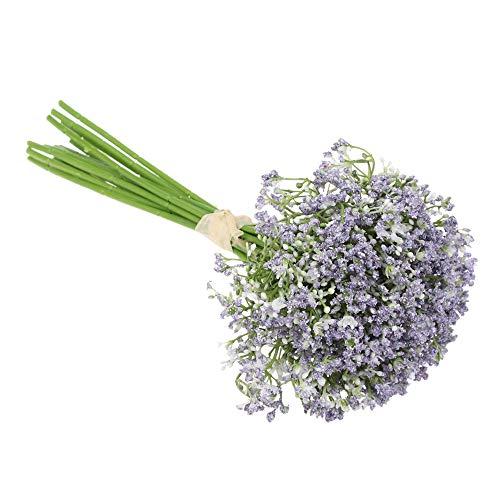GFNet Artificial Flowers,Garden Wedding Favors Home Decoration Party Supplies Simulation Flower Fake Plants Gypsophila Artificial Flowers(Purple) from GFNet