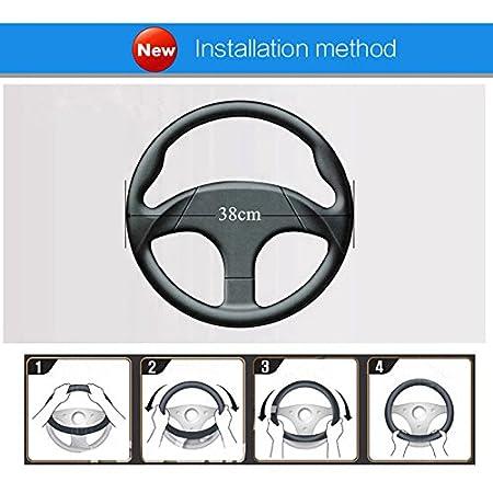 HCMAX D Typ Fahrzeug Lenkradabdeckung Auto Lenkradschutz D-Form Durchmesser 38cm 15