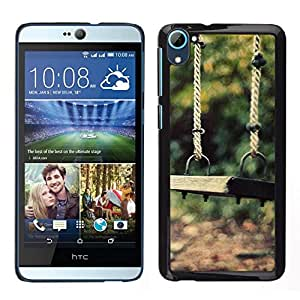 // PHONE CASE GIFT // Duro Estuche protector PC Cáscara Plástico Carcasa Funda Hard Protective Case for HTC Desire D826 / Nature Beautiful Forrest Green 86 /