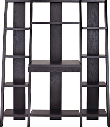 Altra Furniture Ladder Bookcase with Desk, Espresso by Altra Furniture