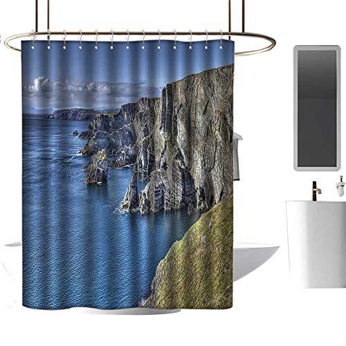 Marilds Hotel Style Shower Curtain Room Decorations Collection Atlantic Coast Cliffs at Mizen Head County Cork Ireland Ocean Coastal Scenery Image W48 ()
