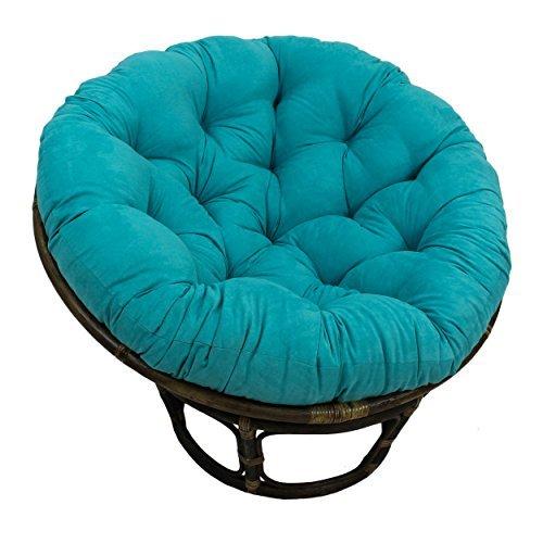 International Caravan 3312-MS-AB-IC Furniture Piece Rattan 42-Inch Papasan Chair with Micro Suede Cushion from International Caravan