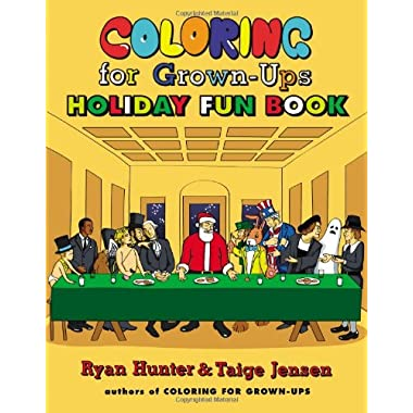 Coloring for Grown-Ups Holiday Fun Book