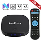 2018 Newest Leelbox Q2 mini Android 7.1 TV Box 2GB+8GB with BT 4.0 Supporting 4K (60Hz) Full HD/H.265/WiFi Smart TV Box