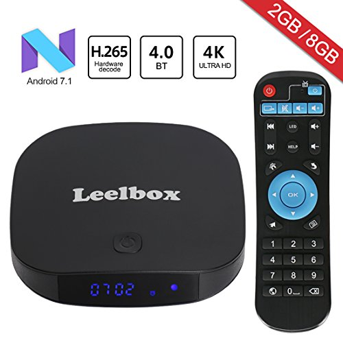 2018 Newest Leelbox Q2 mini Android 7.1 TV Box 2GB+8GB with BT 4.0 Supporting 4K (60Hz) Full HD/H.265/WiFi Smart TV Box by Leelbox