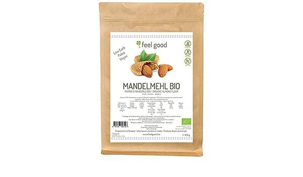 Harina de almendra sin gluten 500 g BIO libre de aceite: Amazon.es ...