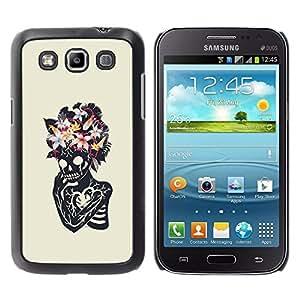 Shell-Star Arte & diseño plástico duro Fundas Cover Cubre Hard Case Cover para Samsung Galaxy Win / I8550 / I8552 / Grand Quattro ( Floral Heart Skull Skeleton Spring )