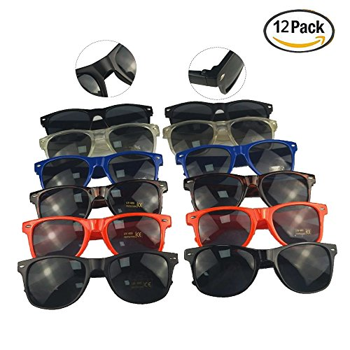 12 Classic, Versatile, Minimalist, Stylish, Retro Party - Lines Plastic With Sunglasses