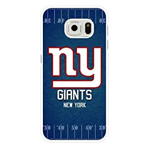 Samsung Galaxy S6 Edge Case, Customized NFL New York Giants Logo White Hard Shell Samsung Galaxy S6 Edge Case, New York Giants Logo Galaxy S6 Edge Case(Only Fit for Galaxy S6 Edge)