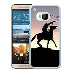 Beautiful Designed Cover Case For HTC ONE M9 With Cowboy White Phone Case