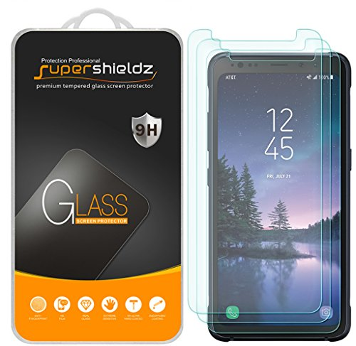 "[3-Pack] Supershieldz for Samsung ""Galaxy S8 Active"" (Not Fit for Galaxy S8 / S8 Plus Model) Tempered Glass Screen Protector, Anti-Scratch, Anti-Fingerprint, Bubble Free, Lifetime Replacement Warranty"