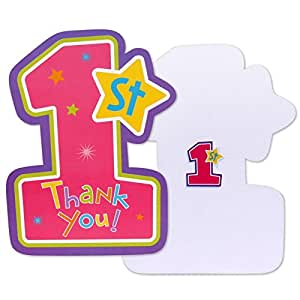 Amazon.com: Amscan Hugs & Stitches Girl Folded Thank Yous ...