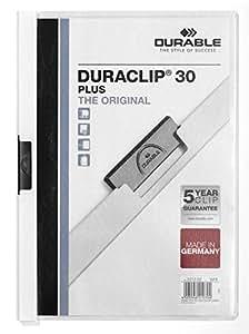 Durable Duraclip - Carpeta de negocios A4 vertical, 30 hojas